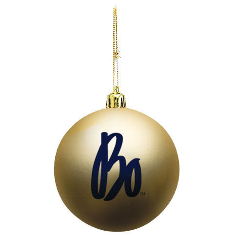 Bo Schembechler Signature Shatter Resistant Ornament - Gold