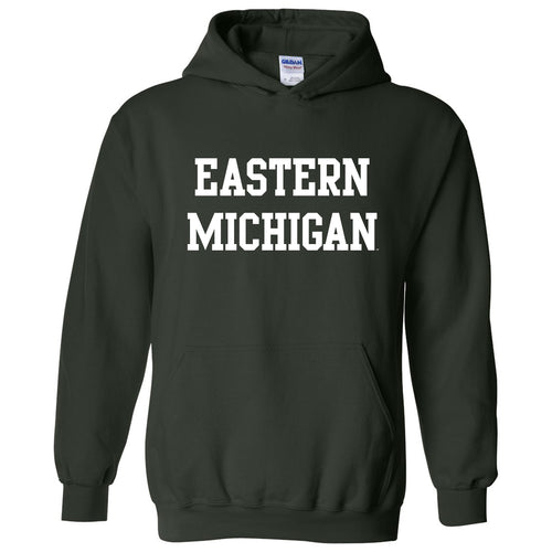 Eastern Michigan University Eagles Basic Block Hoodie - Forest