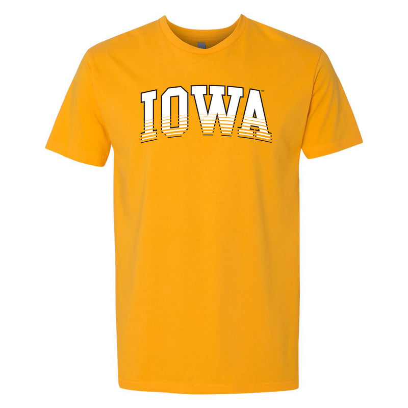 University of Iowa Hawkeyes Next Arch Fade Level Premium Cotton Short Sleeve T Shirt - Gold
