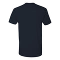 Retro Script University of Michigan Next Level Premium Short Sleeve T Shirt - Midnight Navy