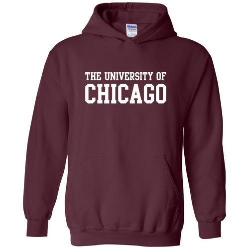 University of Chicago Maroons Basic Block Heavy Blend Hoodie - Maroon