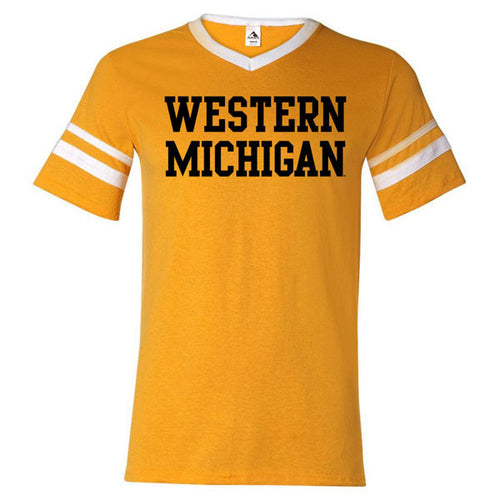 Western Michigan Sleeve Stripe - Gold/White