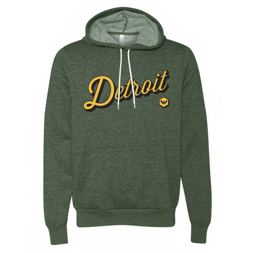 Wayne State University Warriors Detroit Script Hoodie - Heather Forest