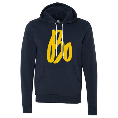 Bo Schembechler Signature Canvas Fleece Pullover Hood - Navy