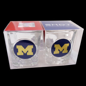 Block M Shot Glass 2pk - Clear