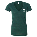 Block S Triblend V-Neck - Emerald
