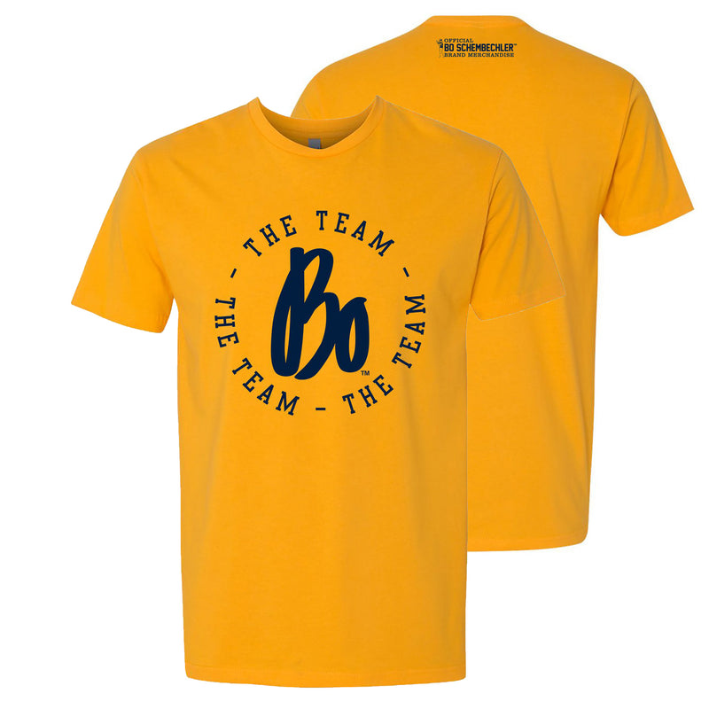 The Team, The Team, The Team Circle Next Level T-Shirt - Gold