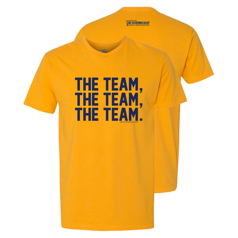 Bo Schembechler The Team The Team The Team Premium Short Sleeve Tee - Gold