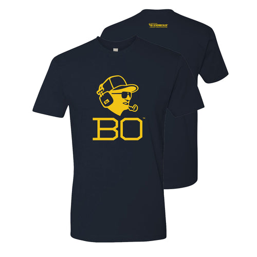 Bo Schembechler Headset Premium Short Sleeve Tee - Midnight Navy