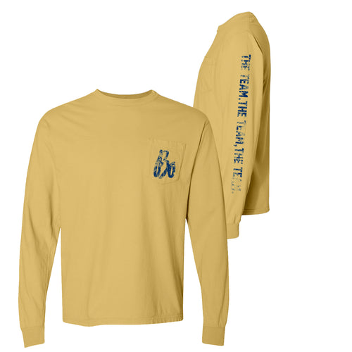 Bo Schembechler Signature The Team The Team The Team Long Sleeve Pocket Tee - Butter
