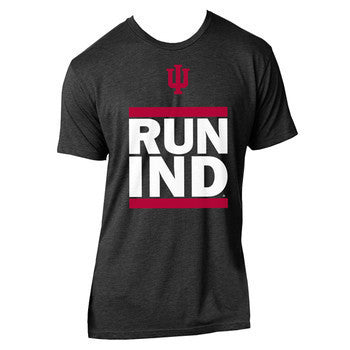 Indiana University Hoosiers RUN IND Triblend- Vintage Black