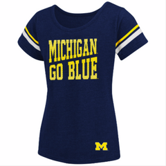 Michigan Girls Fading Dot - Navy