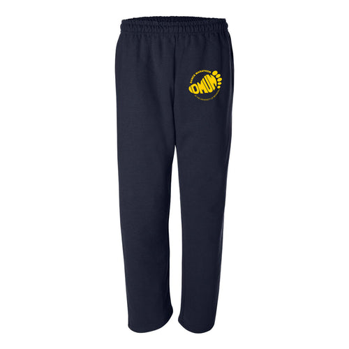 DMUM Open Bottom Sweatpants w/ Pockets - Navy