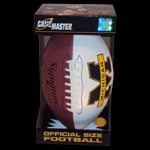 UM Autograph Football 618B  - Maize & Blue