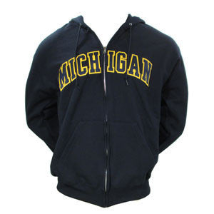 Champion Michigan 2CLTTPB Zip Hood - Navy