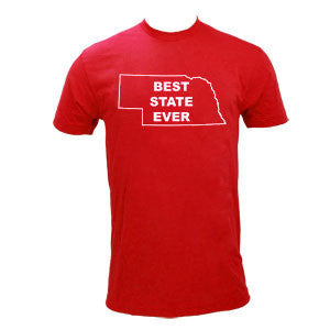 Best State Ever Nebraska - Red