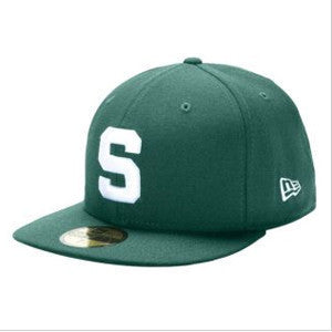 New Era 59Fifty - Block S - Green / White