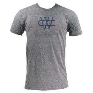 CW Triblend Navy Logo - Athletic Grey