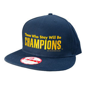 Bo Schembechler Those Who Stay Will Be Champions New Era Snap - Navy