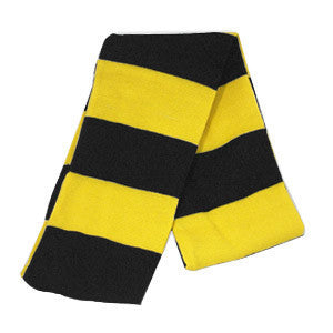 University of Iowa Hakeyes Black Gold Striped Scarf - Black / Gold