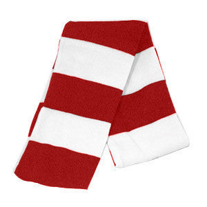 Red & White Striped Scarf - Red / White