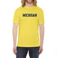 Basic Block University of Michigan American Apparel T Shirt - Sunshine