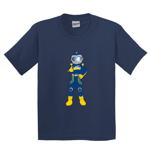 University of Toledo Rockets Youth Rocky Short Sleeve T-Shirt - Navy