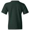 Baylor University Bears Basketball Flux Basic Cotton Youth Short Sleeve T Shirt - Forest