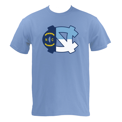UNC Flag Logo S/S - Carolina Blue