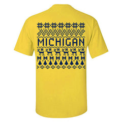 Michigan Holiday Sweater Tee - Maize