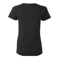DePauw University Tigers Basic Block Womens Short Sleeve T Shirt - Black