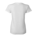 Arch Logo Fairleigh Dickinson Devils Basic Cotton Women's Short Sleeve T Shirt - White