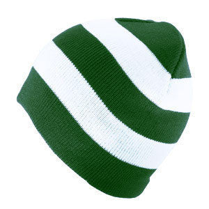 Michigan State University Spartans Rugby Striped Hat - Green/White