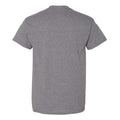 Hibiscus Pattern Blocks Iowa Basic Cotton Short Sleeve T Shirt - Graphite Heather