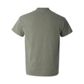 Happy Camper - Hiking, Outdoors, Nature, Fishing, Pun - Funny Adult Cotton T Shirt - Heather Military Green