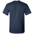 Arch Logo Lacrosse University of Michigan Basic Cotton Short Sleeve T Shirt - Navy