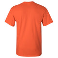 Bowling Green State University Falcons Arch Logo Architecture Basic Cotton Short Sleeve T Shirt - Orange