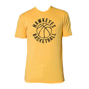 Iowa Retro Bball H. Gold - Heather Gold