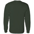 Michigan State University Spartans Patchwork Cotton Long Sleeve T Shirt - Forest