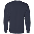 University of Michigan Wolverines Patchwork Cotton Long Sleeve T Shirt - Navy