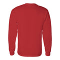 University of Houston Cougars Distressed Circle Logo Heavy Cotton Long Sleeve - Red