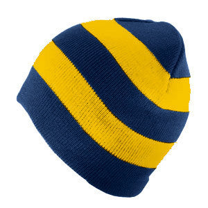 Rugby Striped Hat - Navy / Gold