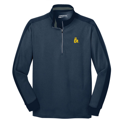 Bo Sig Nike Dri-FIT 1/2-Zip Cover-Up - Navy Heather