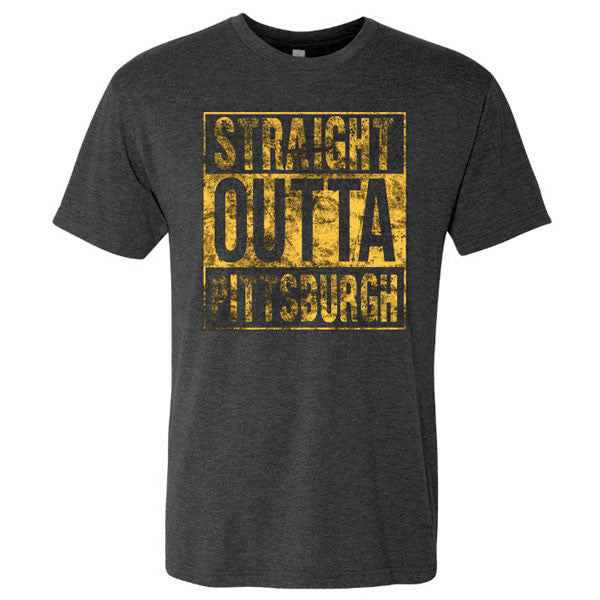 Striaght Outta Pittsburg - Vtg Black