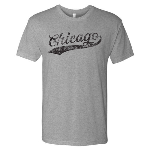 Chicago Baseball Script Next Level Short Sleeve T Shirt - Premium Heather