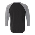 University of Iowa Hawkeyes Baseball Jersey Script Next Level Raglan - Vintage Black/Premium Heather