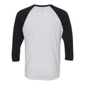 Purdue University Boilermakers Varsity Script Helmet Next Level Raglan - Heather White/Vintage Black