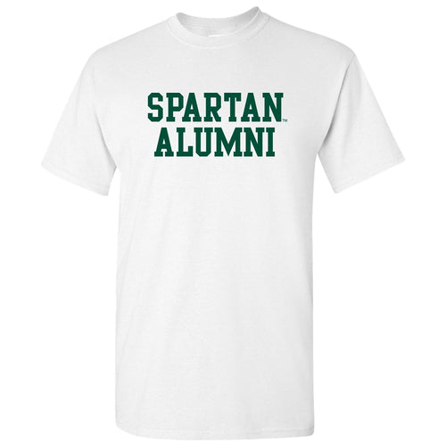 Michigan State University Spartans Basic Block Alumni Next Level Short Sleeve T Shirt - White