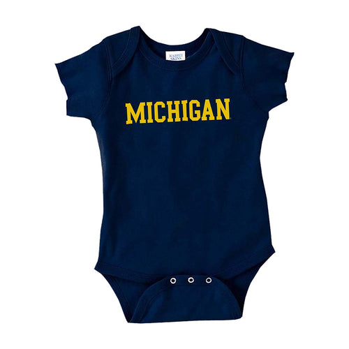 Basic Block University of Michigan Rabbit Skins Creeper - Navy