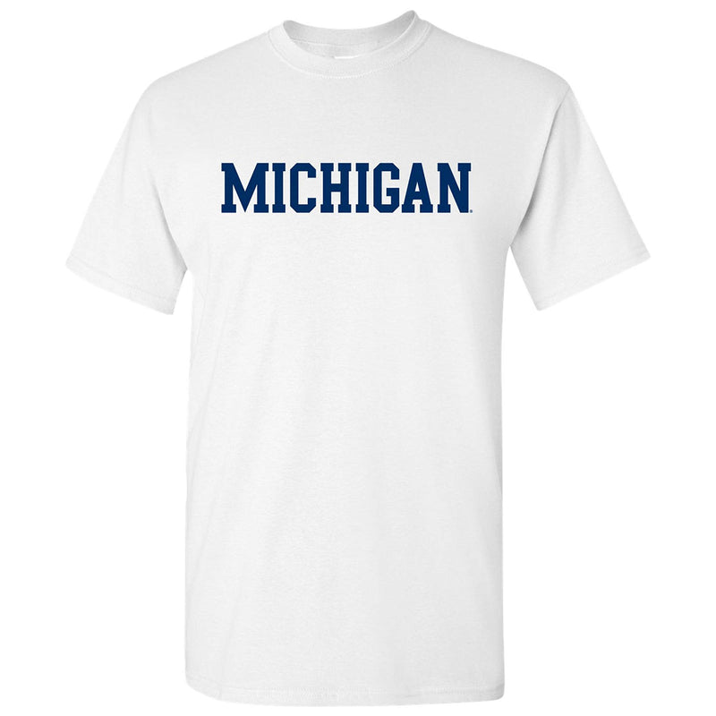 Basic Block University of Michigan Basic Cotton Short Sleeve T Shirt - White